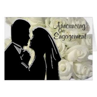 Engagement Announcement Card Template