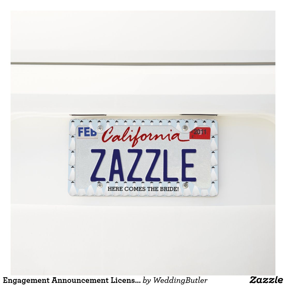Engagement Announcement License Plate Frame