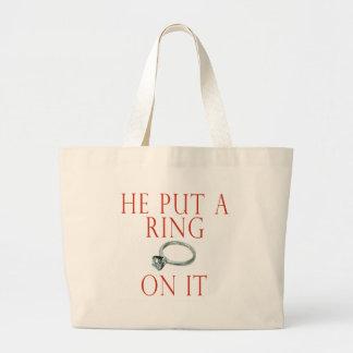 Engagement Bride Tote Bag