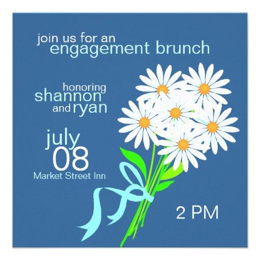 Engagement Brunch Invitations {Blue}