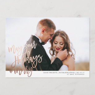 Christmas Save The Date Cards.Christmas 5x7 Save The Date Cards Zazzle