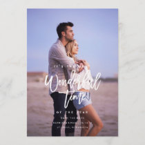 Engagement Christmas Card, Save the Date Christmas
