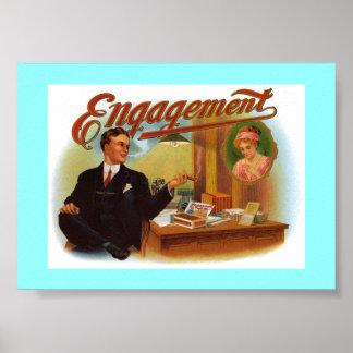 Engagement Cigar Box - Vintage Poster