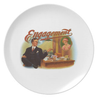 Engagement Cigar Label Dinner Plate