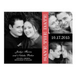 Engagement Collage Save The Date Announcement Postcards