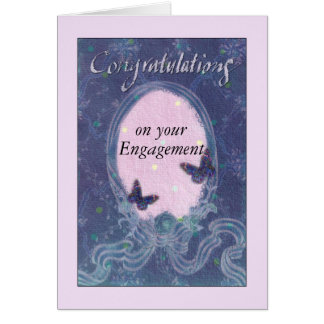 Engagement Congrats Exquisite Dreamy Artwork Card