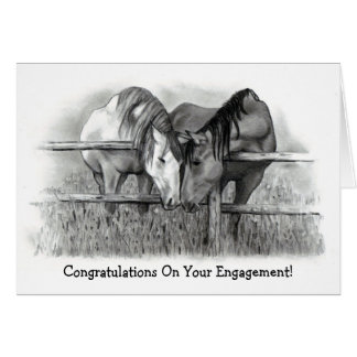 ENGAGEMENT CONGRATS: HORSE LOVERS CARD