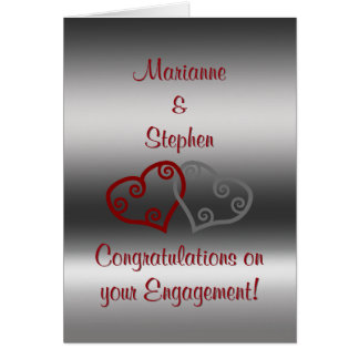 Engagement Congratulations, entwined Maori hearts Card