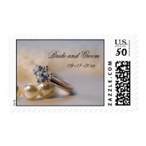Engagement Diamond Ring and Pearls Wedding Postage