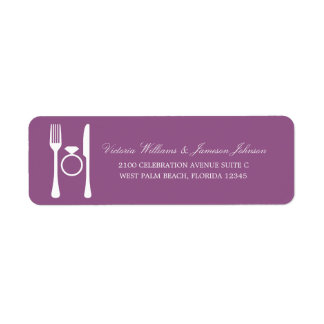ENGAGEMENT DINNER | ADDRESS LABELS