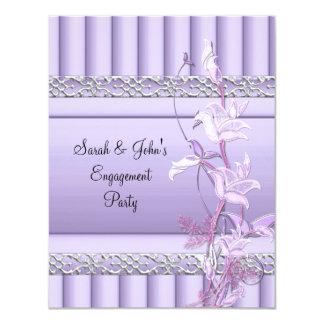 Engagement Elegant Soft Pretty Lilac Floral Card