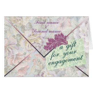 Engagement Gift Enclosure Card