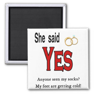 Engagement 2 Inch Square Magnet