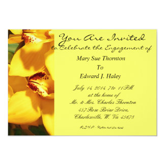 ENGAGEMENT/MARRIAGE INVITE GOLDEN YELLOW ORCHIDS