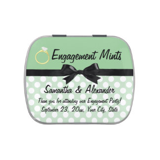 Engagement Mints Party Favor Jelly Belly Tins