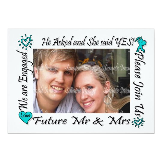 Engagement modern couples photo PERSONALIZE Card