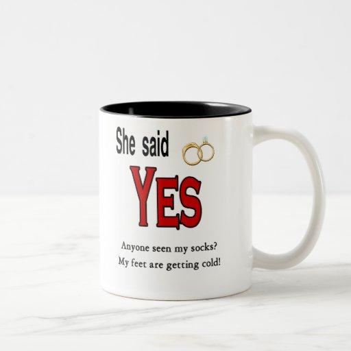 Engagement Coffee Mugs