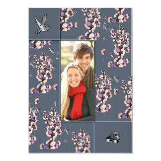 Engagement Notice, Cherry Blossom Card