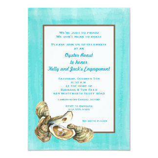 Engagement Oyster Roast Party Invitation