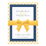 Engagement Party - Blue with Yellow Polka Dots Announcements