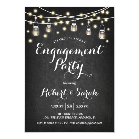 Engagement Party - Chalkboard Invitation