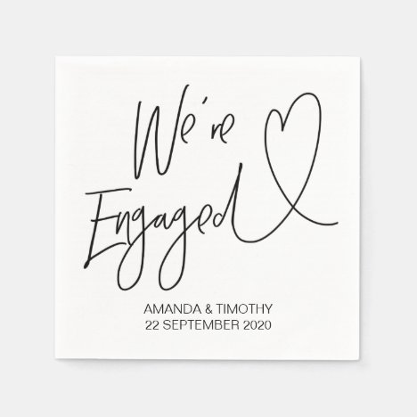 Engagement Napkins