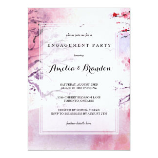 Engagement Party | Elegant Japanese Watercolor Card