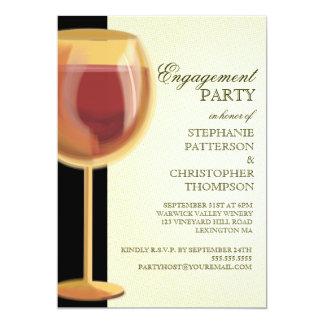 "Engagement Party Elegant Wine Themed Invitation 5"" X 7"" Invitation Card"