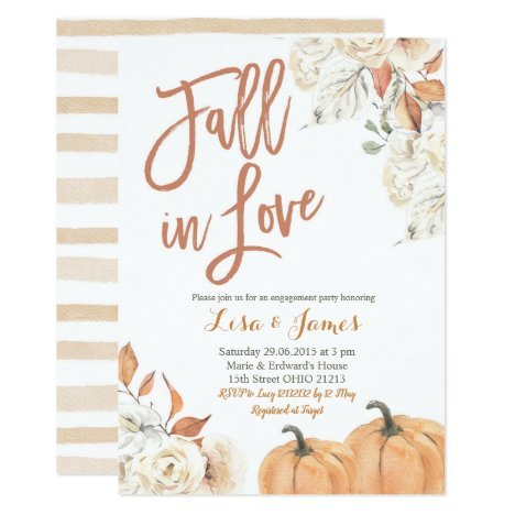 Engagement party Fall in Love engagement Invitation