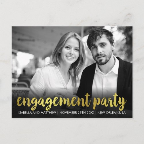 Engagement Party  Fun Personal Photo Invitation Postcard
