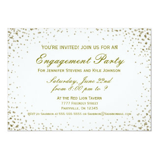 Engagement Party | Gold Confetti Card
