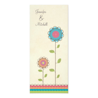 Engagement Party Happy Colorful Flowers Invitation