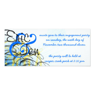 engagement party invitaion card