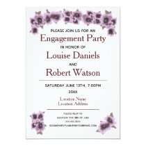 Engagement Party Invitation Flowers