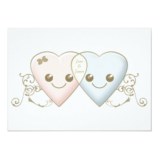 Engagement Party Invitation Kawaii Hearts Entwined