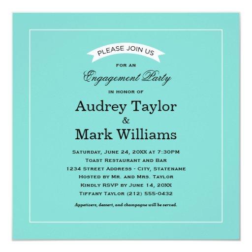 Engagement Party Invitation   Little Blue Box