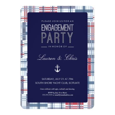Beach Themed Engagement Party Invitation - Nautical, Summer