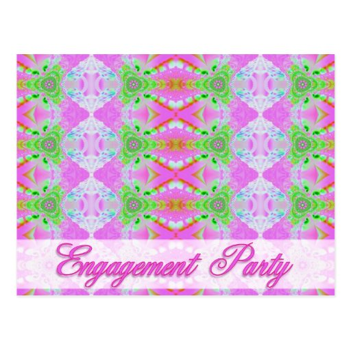 engagement party invitation postcards
