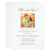 Engagement Party Invitations | Copper Photo