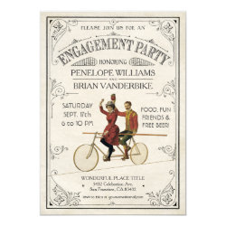 Engagement Party Invitations | Vintage Antique