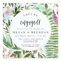 Engagement Party Invitations Watercolor Floral