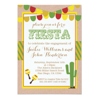 Engagement Party Mexican Fiesta Invitation