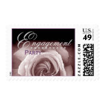 ENGAGEMENT Party - Pastel Purple Rose and Lace Postage Stamp