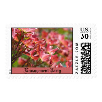 Engagement Party postagestamps Pink Dogwood Flower Postage