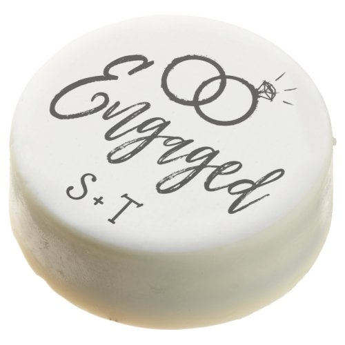 Engagement Party Script Lettered Chocolate Covered Oreo