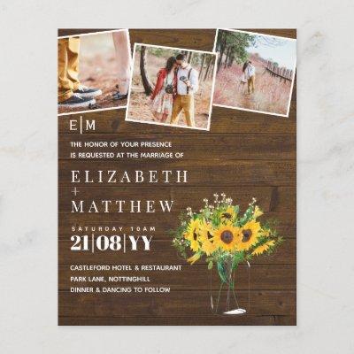 Engagement Photo Rustic Sunflower Wedding Savedate