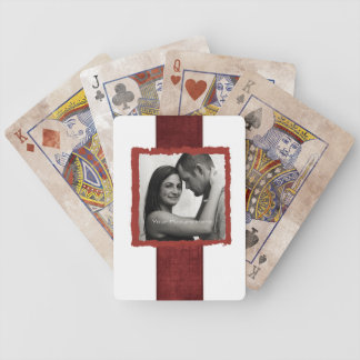 Engagement Photo Rustic Vintage Wedding Bicycle Playing Cards