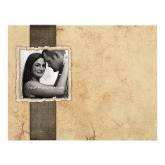 Engagement Photo Rustic Vintage Wedding Flyer