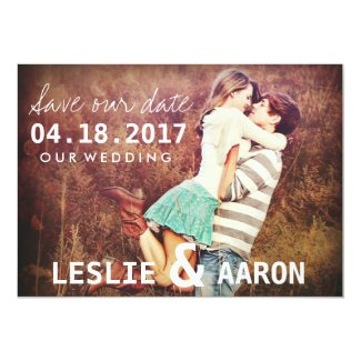 Engagement Photo Save the Date Wedding Cards
