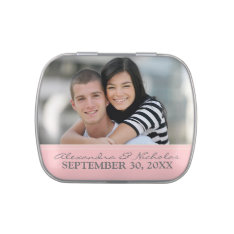 Engagement Photo Wedding Favor Tins (pink) Candy Tin at Zazzle